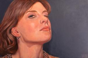 portrait, realisim, oil, woman, face, oil, contemporary, portrait, bob diven, new mexico, artist